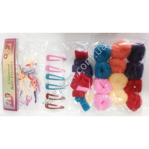 X-1405 Набор: резинки для волос + заколки
