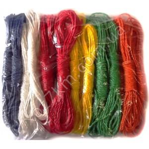X-1587 Верёвка цветная упаковке 24 штук