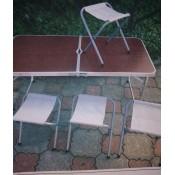 X-2926 Стол трансформер размир 60*60*6 размир стола 55*120*5*60 высота 70см ножки телескопические 2 положения