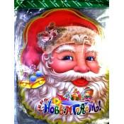 Х-3483 Наклейки новогодние Дед Мороз 56cm