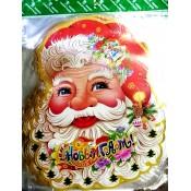 Х-3484 Наклейки новогодние Дед Мороз 56cm