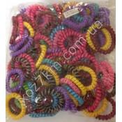 X-1677 резинки для волос разноцветные 100 штук